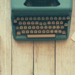 old desk typing machine